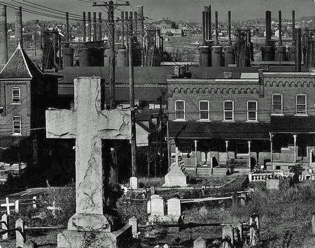 Walker Evans Graveyard and Steel Mill Bethlehem PA