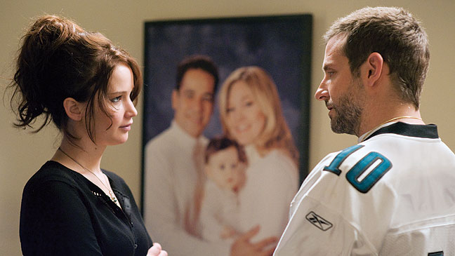 Misfortune and a fake happy family bring Lawrence and Cooper together in Silver Linings Playbook