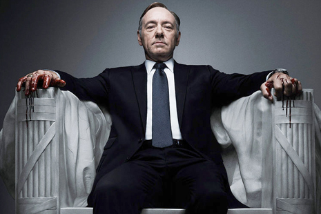 Kevin Spacey tries to build his own monument in HOUSE OF CARDS.