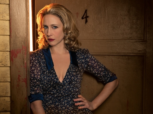Vera Farmiga at the BATES MOTEL standing in front of my lucky number 4.  Something tells me I'll put too many bets on both.