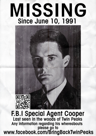 Agent Cooper MISSING Poster