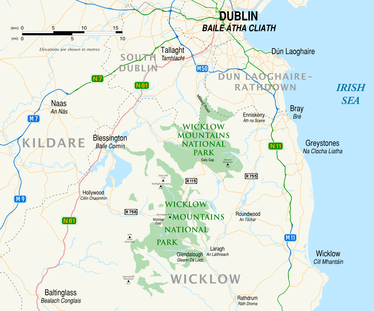 Caravan sites in County Wicklow | The Caravan Club |Wicklow Hills Ireland