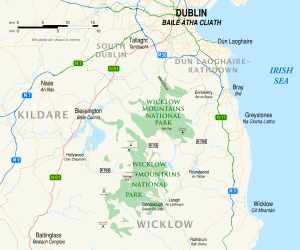 Wicklow County Ireland Map