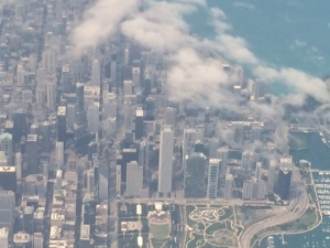 Chicago View from Plane Landing