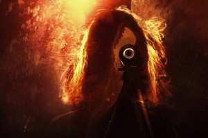 True Detective Season 2 Opening Credit Shot Woman and Camera